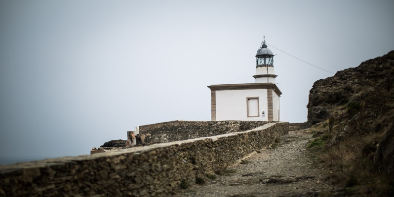 Far de Cala Nans (unmanned lighthouse).