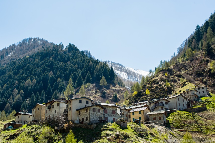 Mountain village in Varrone.
