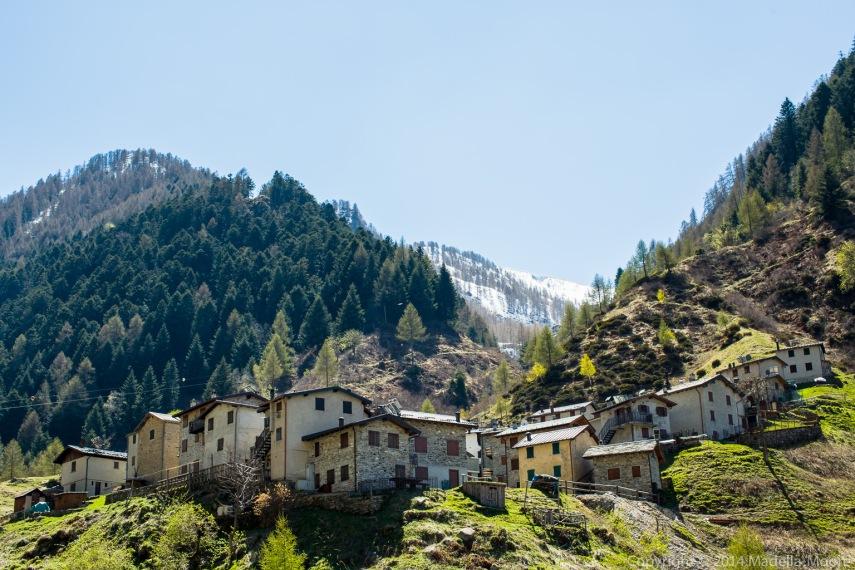 Mountain village in Varrone.