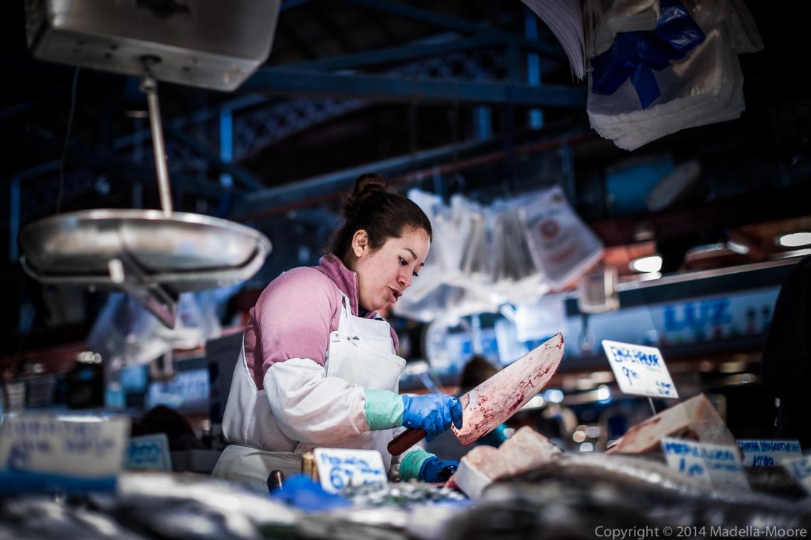 Fish monger - La Boqueria - Barcelona