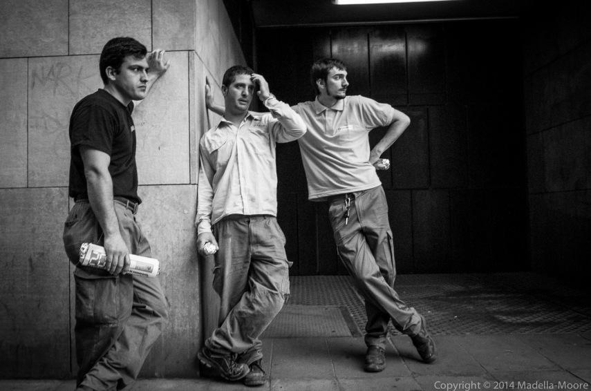 Workers on La Rambla, Barcelona
