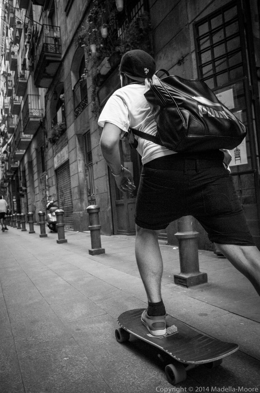 Skateboarder, Barcelona.