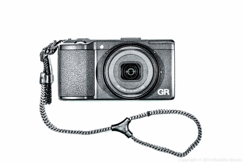 Ricoh GR Camera with Joby DLSR Wrist Strap