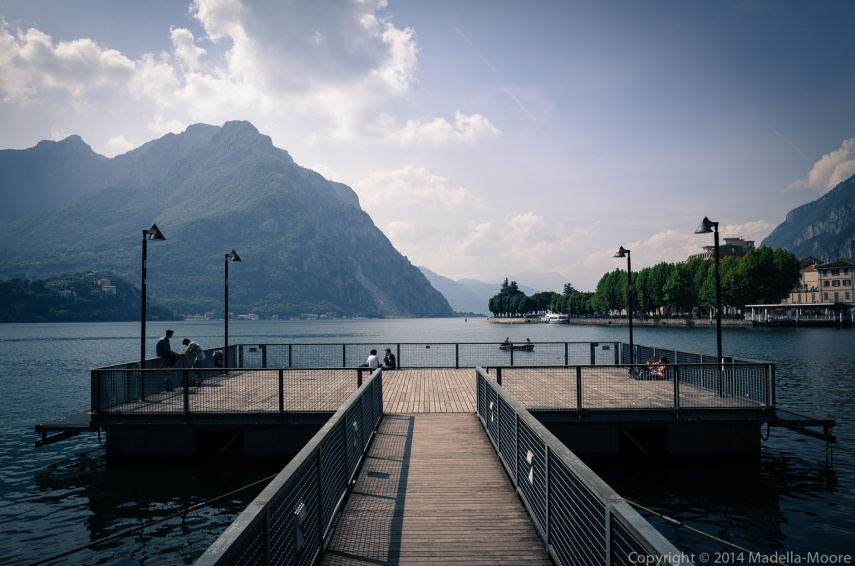 Jetty at Como, Italy.