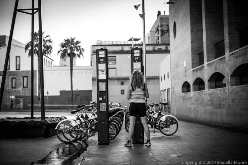 Bicing Cycyle Rental, Plaça dels Angels, Barcelona Street Photography