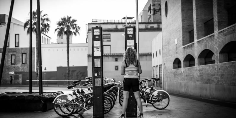 Bicing Cycyle Rental, Plaça dels Angels, Barcelona Street Photography