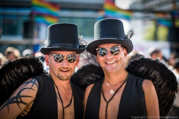 Two Angels at Barcelona Pride 2014