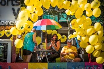 A Conchita Wurst look-alike at Barcelona Pride 2014