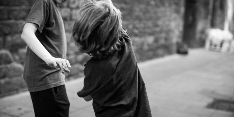 Memories - Two Children Playing