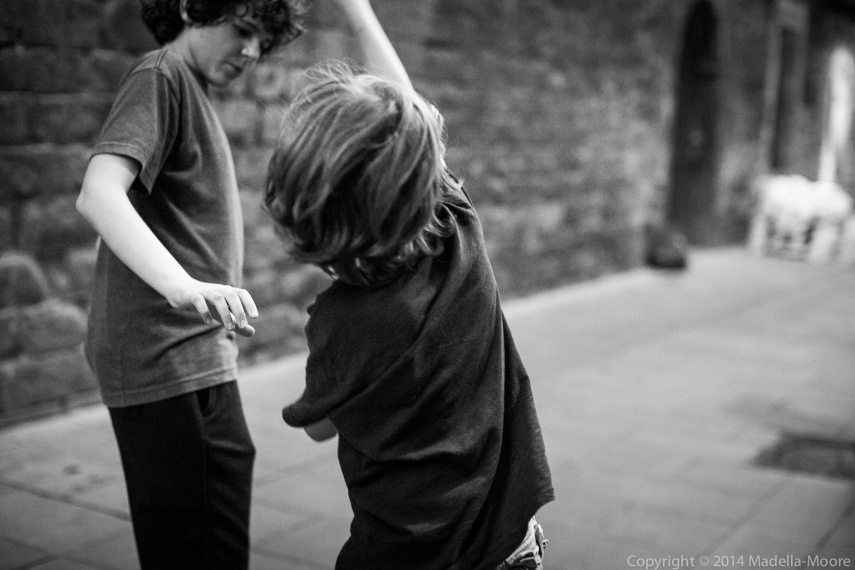 Memories - Two Children Playing