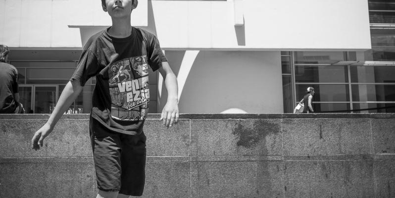 Child Skateboarder, Plaça dels Angels, Barcelona