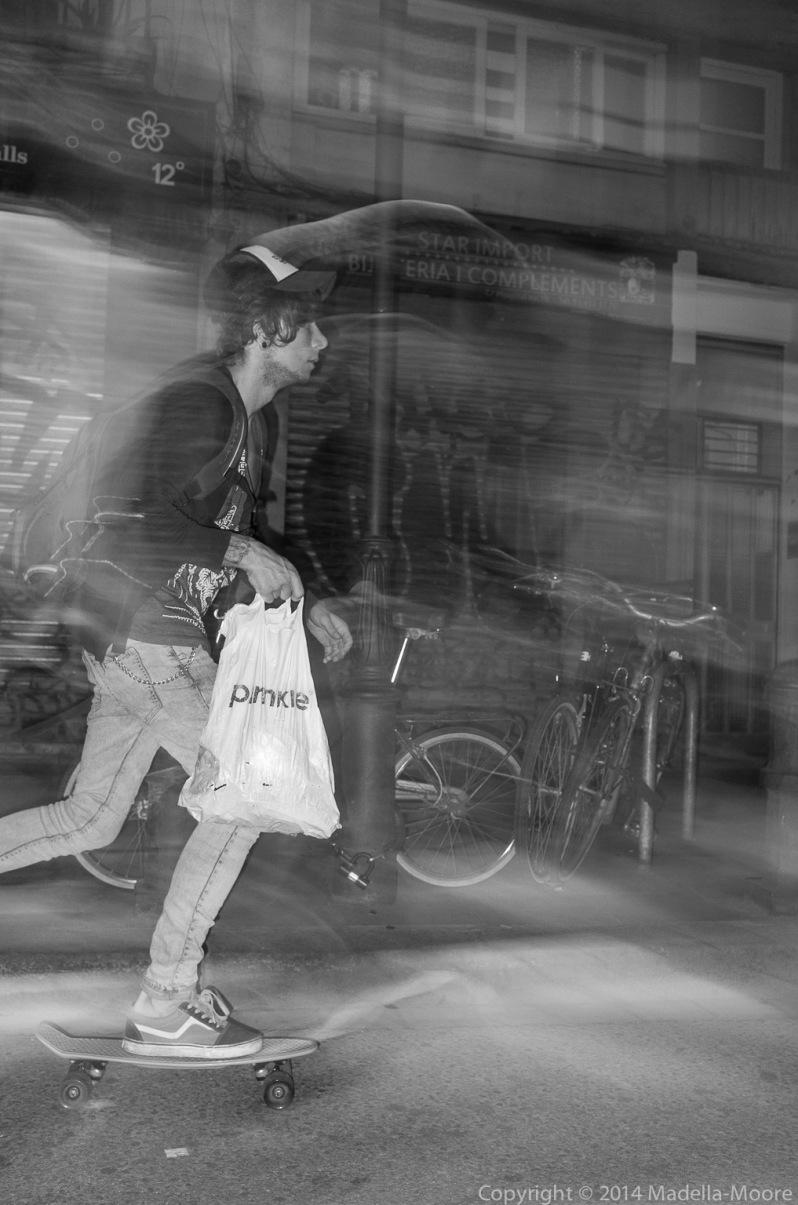 Barcelona Street Photograph: Skateboarder