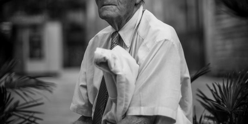 Old man sitting, Barcelona