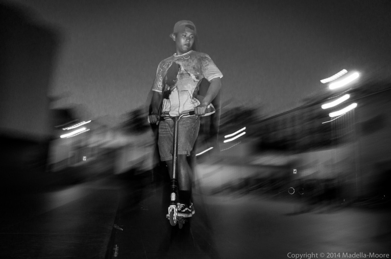 Flying Scooter, Plaça dels Angels, Barcelona
