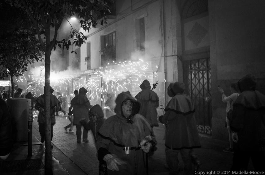 Barcelona Street Fireworks
