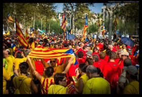 Huge crowds at the Catalan independence march