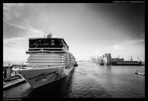 Cruise ships at Barcelona Harbour