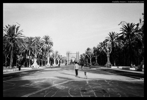 Image of the Arc de Triomf, Passeig de Lluis Companys, Barcelona. Leica M7 with Zeiss ZM 2/35 Biogon.