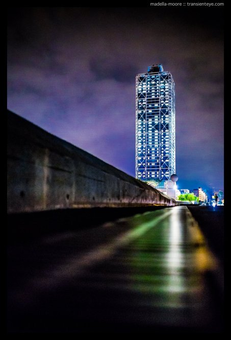 The Hotel Arts at Night, Port Olímpic, Barcelona. Photograph taken with a Canon 5D Mark III and Sigma 35mm f1.4 Art.