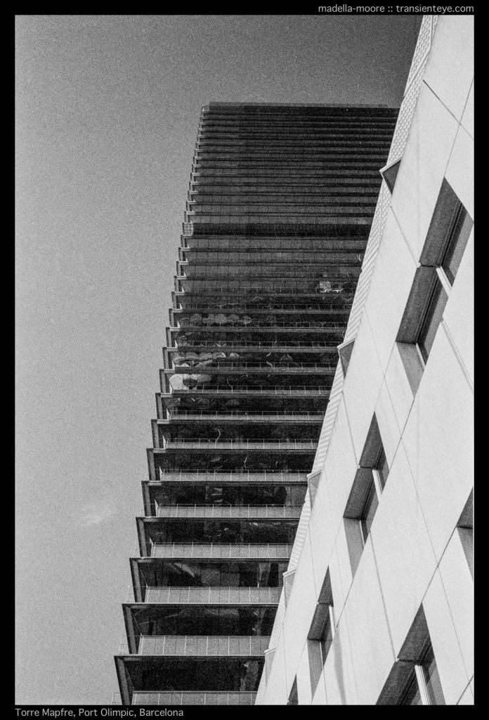 Torre Mapfre, Port Olímpic, Barcelona. Leica M7 with Zeiss ZM 2/35.