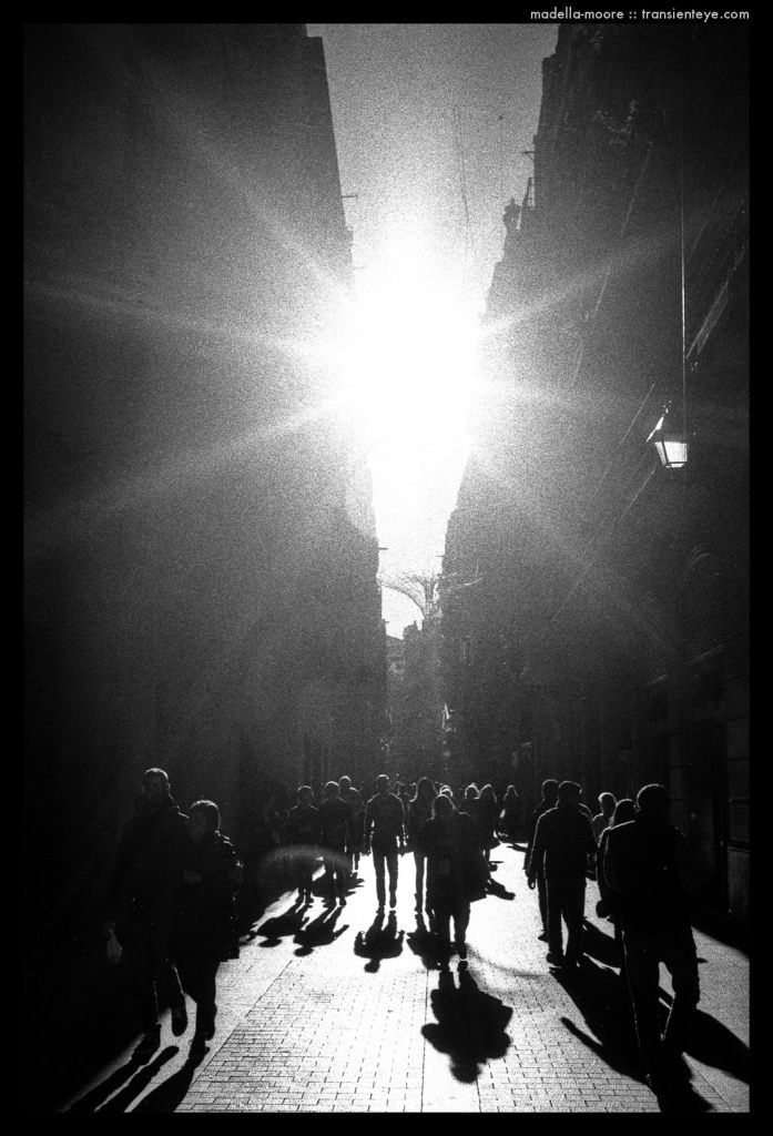 Barcelona - Autum High Contrast Light on the Streets
