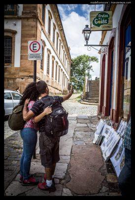 Tourist Selfies, Ouro Preto, Minas Gerais, Brazil.