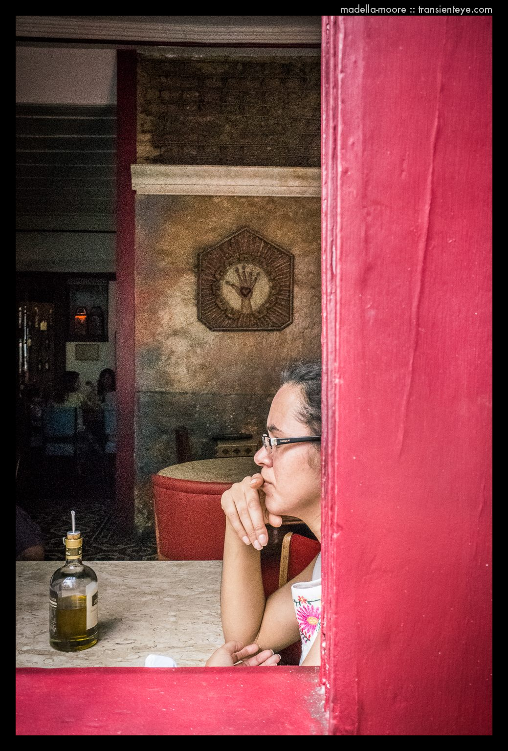 Girl in Cafe, Ouro Preto, Brazil
