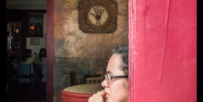 Girl in Cafe, Ouro Preto, Brazil