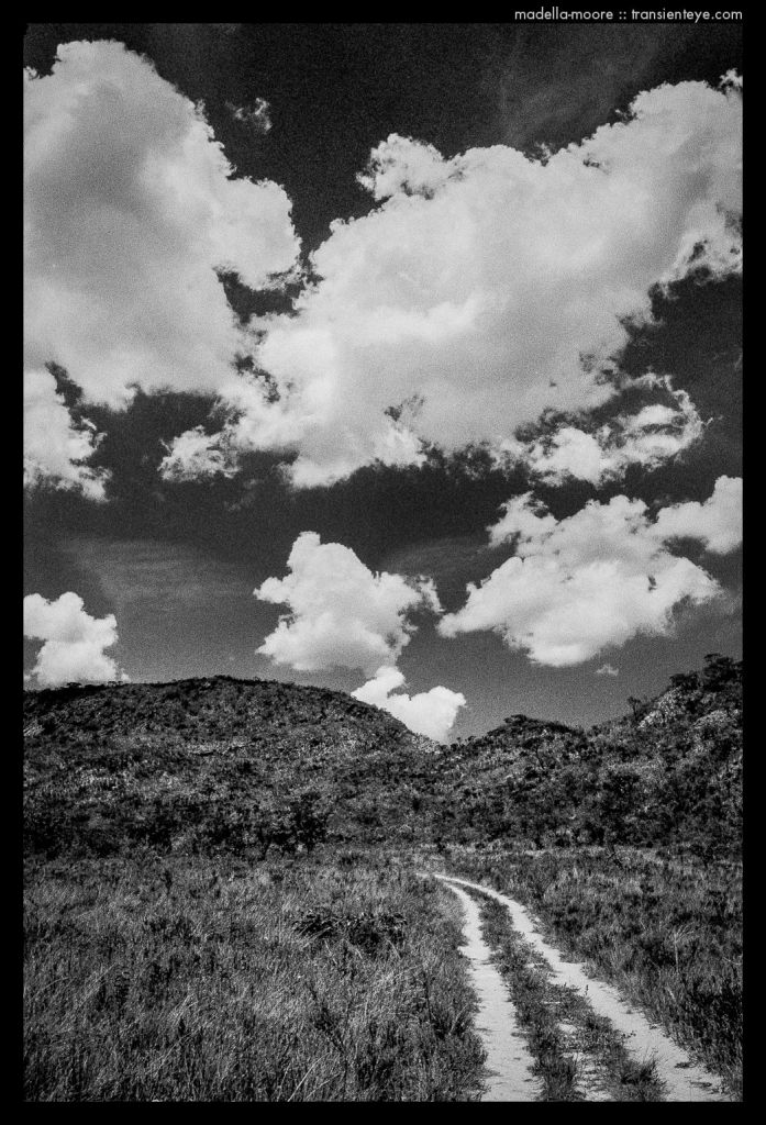 Parque Nacional da Serro da Cipó. Black and white landscape with polariser and red filter.