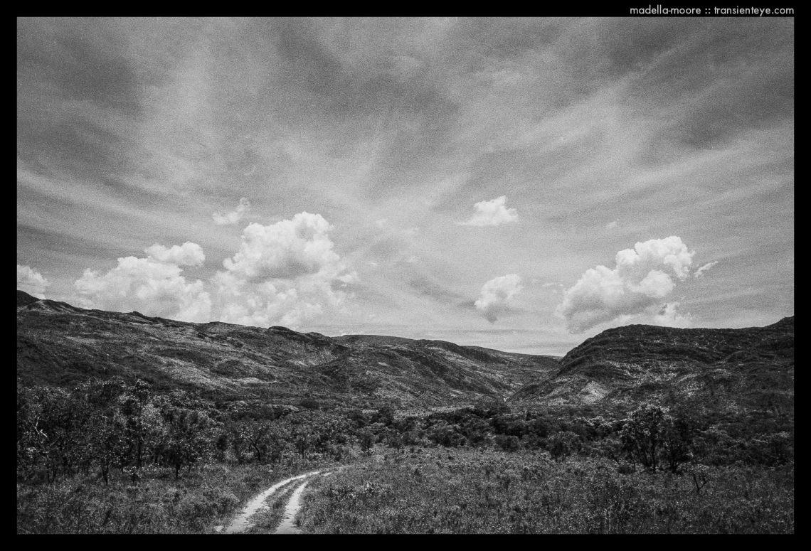 Parque Nacional da Serro da Cipó. Black and white landscape with polariser and red filter.