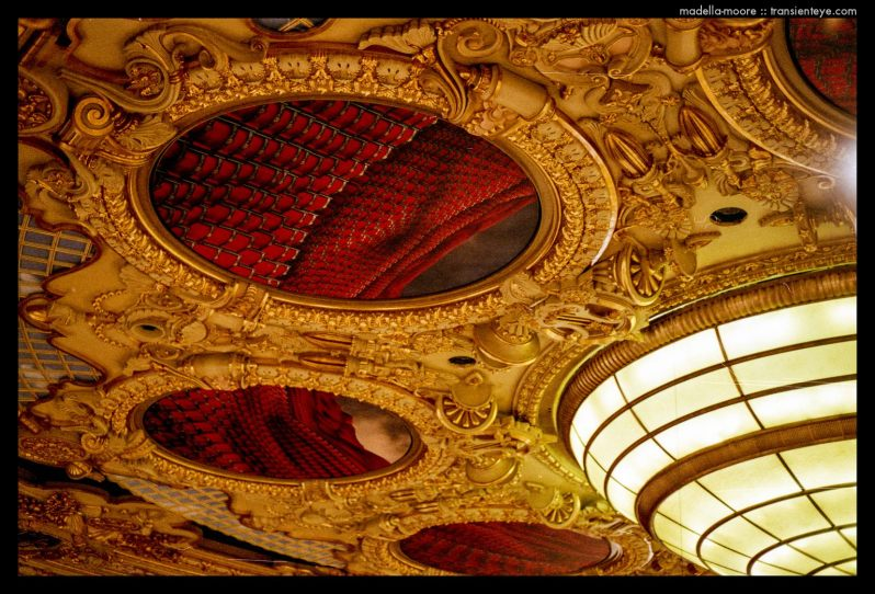 A section of ceiling from the Liceu Opera House, Barcelona
