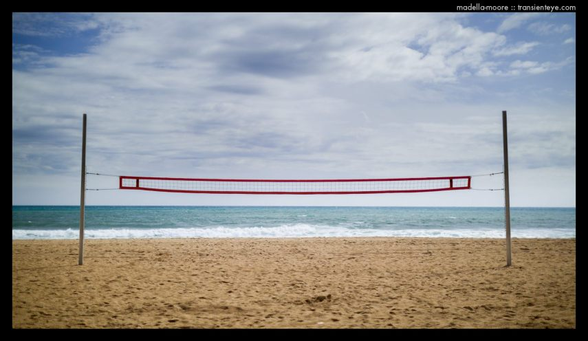 Volleyball net, Badalona Beach.