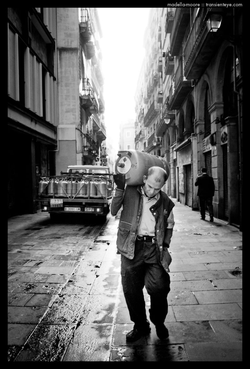 Gas Cylinder Delivery - Barcelona Street Photography - Mark Moore