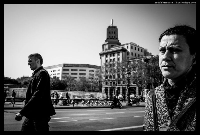 Barcelona Street Photography - Plaça Catalunya - Ricoh GR - Black and White