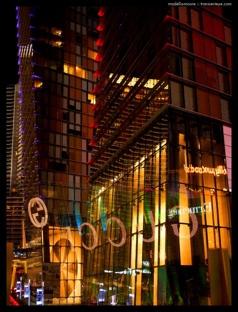Las Vegas Abstract Lights and Reflections - photograph by Mark Moore