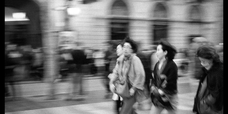 Long exposure street photography.