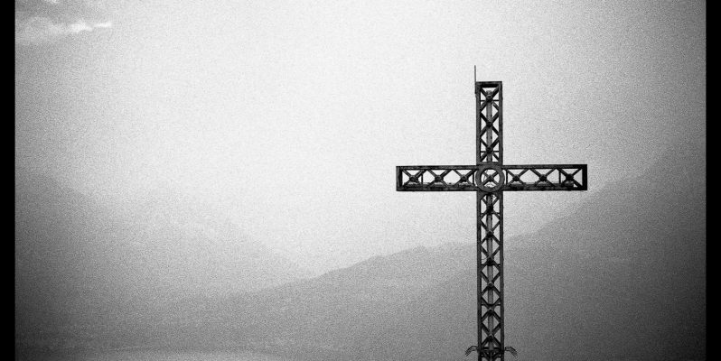 Iron Cross, San Grato, Italy. Photograph taken with a Leica M7, Zeiss ZM 50mm Sonnar lens and Ilford HP5+ Black and White Film