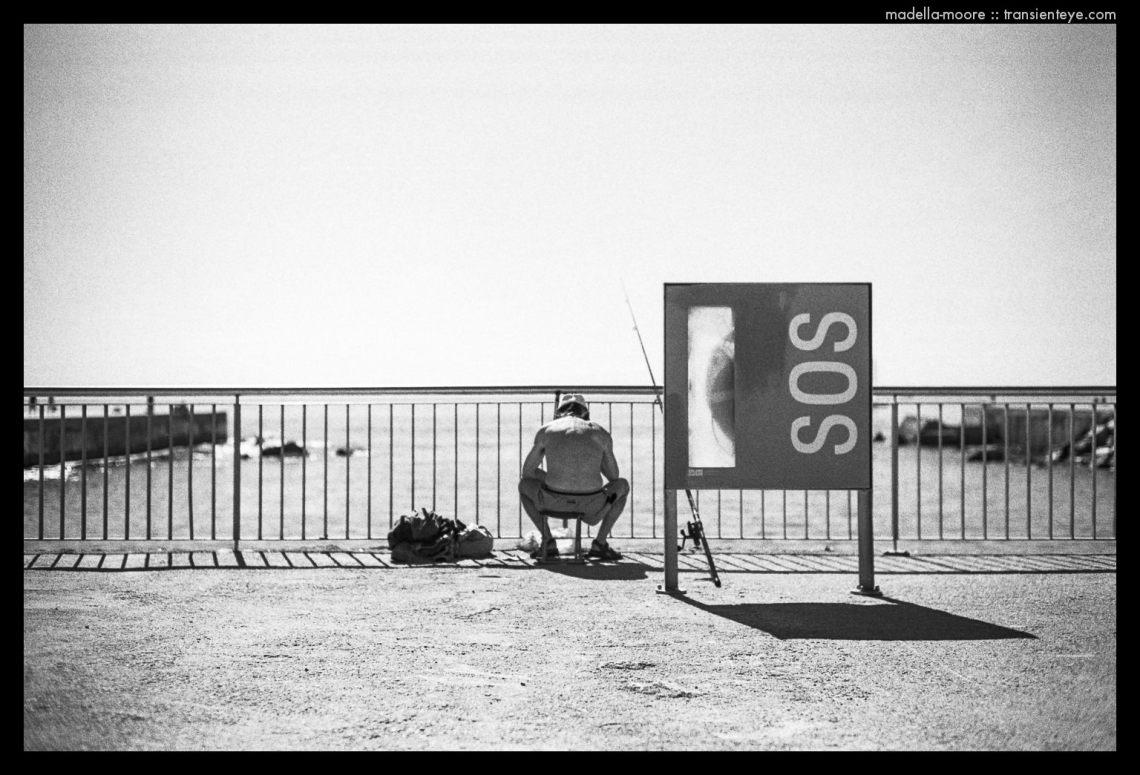 Barcelona SOS - Black and White Film Photograph