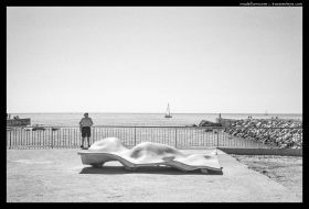 Barcelona Beach Life - Black and White Film Photography