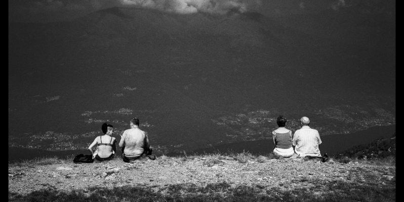 Four People on a Mountain, Il Giumello, Italy