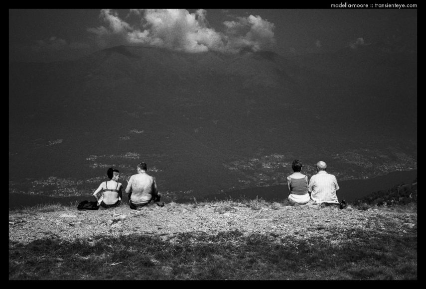 Four People on a Mountain, Il Giumello, Italy