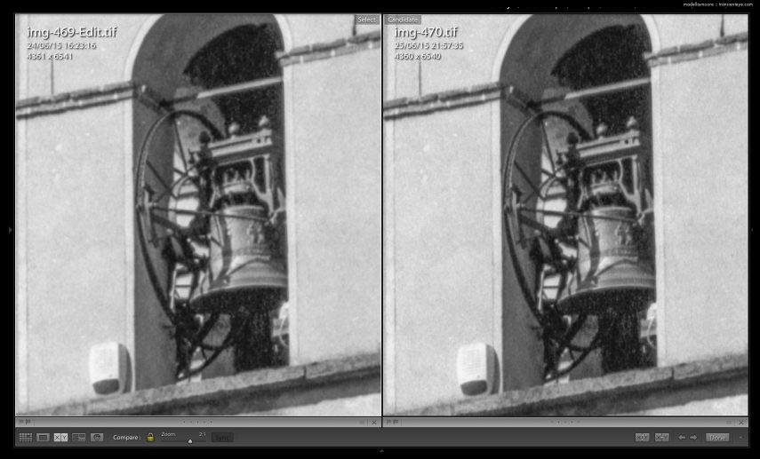 Comparison of 3200 and 4800 DPI scans from an Epson v850 film scanner.
