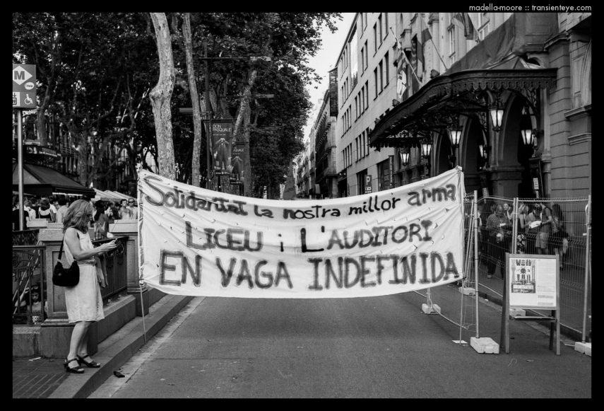 Liceu Barcelona - Strike