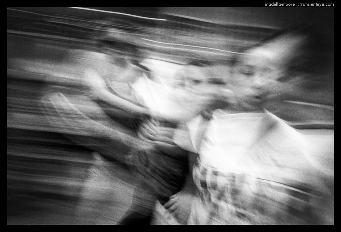 People on La Rambla, Barcelona - Motion Blurred Film Photography