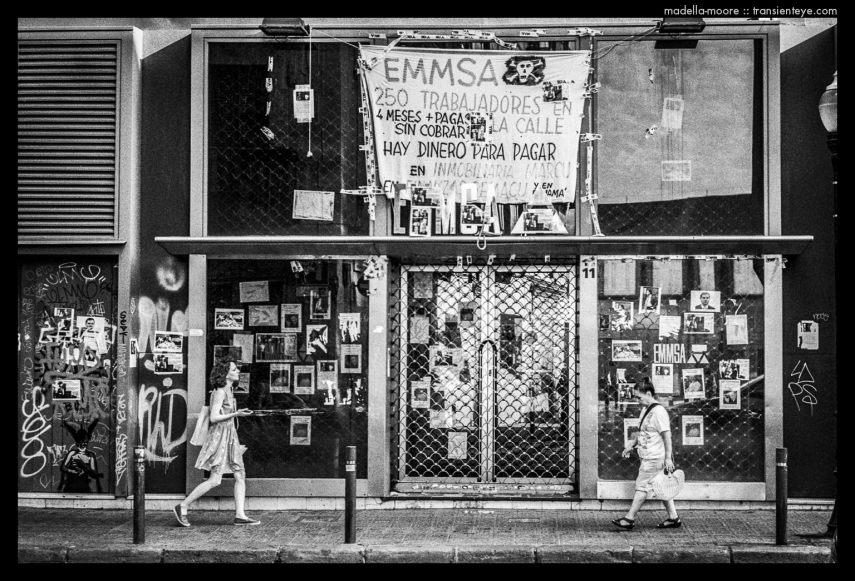 EMMSA Redundancy Protest Posters, Barcelona