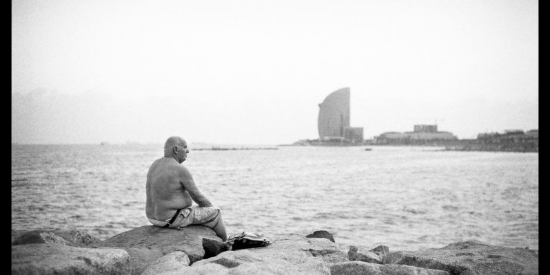 Beachside Dreams - Barcelona - Black and White Film Photography