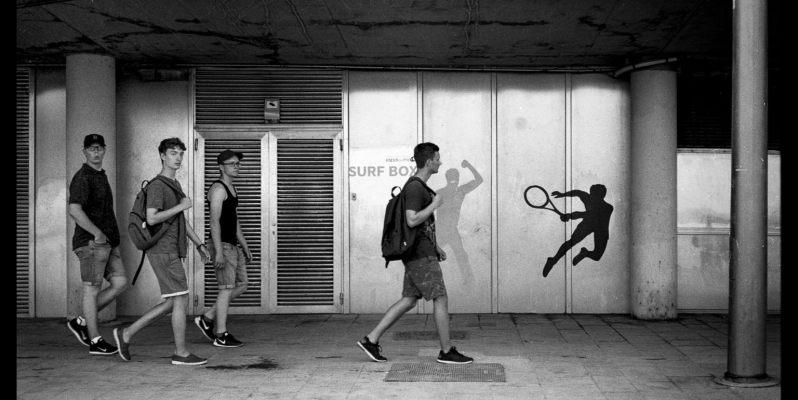 The under-path at Barceloneta Beach. Ilford HP5+. Leica M7. Zeiss ZM 1.5/50.
