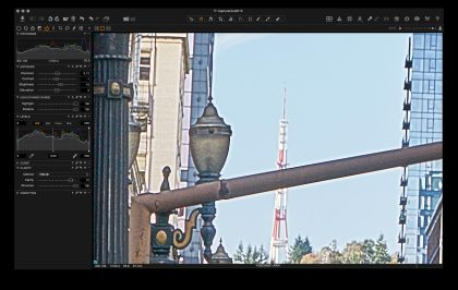 Capture One heavy processing of an A7rII file at 400%.