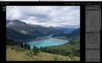 Lightroom: the initial imported image.