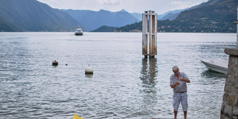 Fisherman at Varenna, Lago di Como, Italy